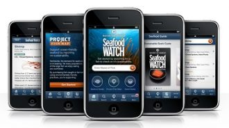 Image of Seafood Watch app on iPhone