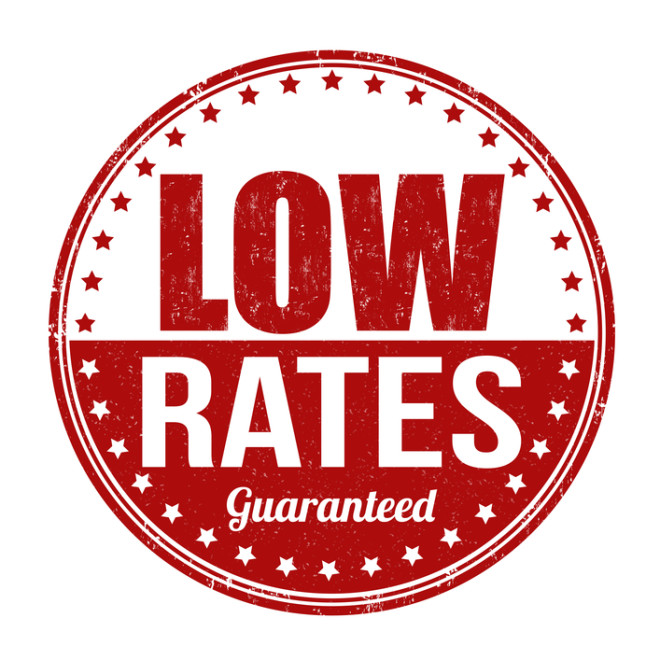Image of a logo for guaranteed low rates for b2b credit card processing